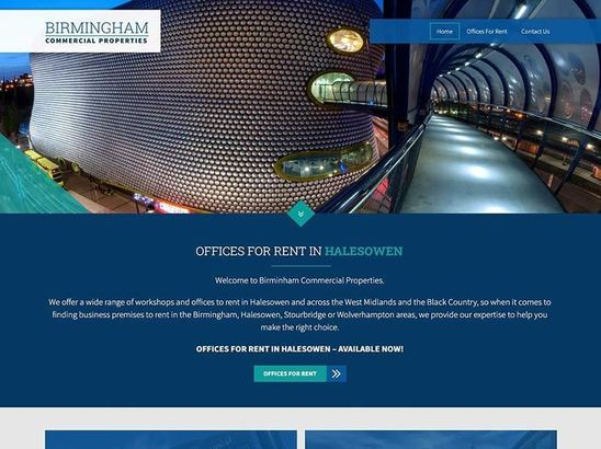 Birmingham Commercial Properties website